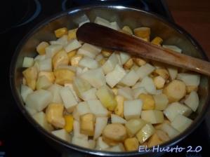 Patatas y boniatos en la cazuela
