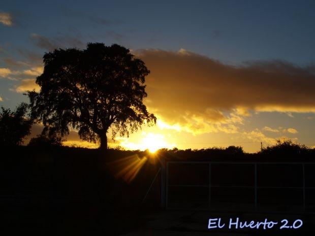 Puesta de sol en  diciembre