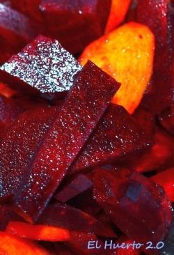 Remolacha y zanahorias