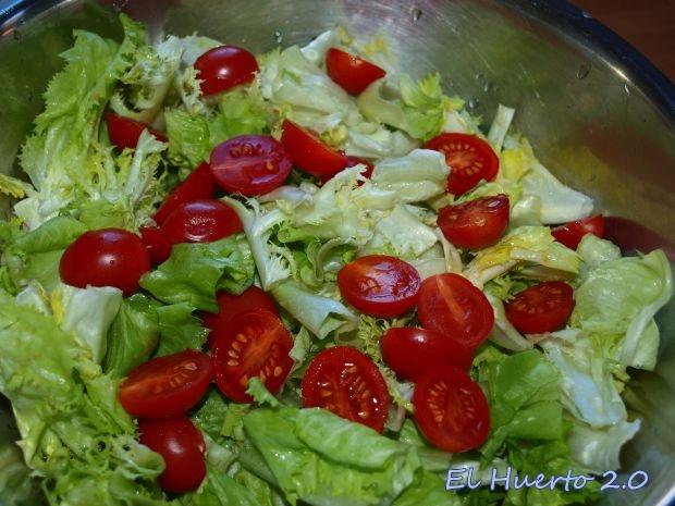 Con el amargor de la achicoria combina bien el toque dulce del tomate