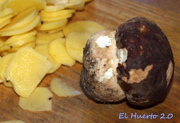 Patatas y boletus