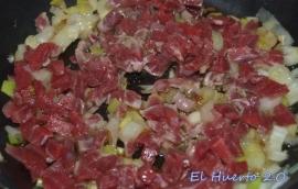Cebolla y carne de cerdo