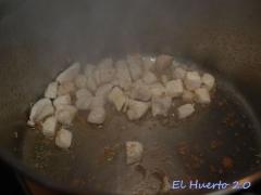 Salteando el pollo