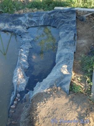 Angulo lateral, antes de cubrir con tierra