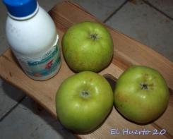 Limpiando las manzanas