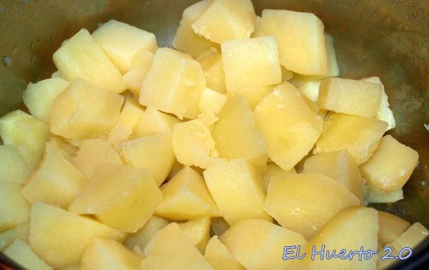 Patatas cocidas y escurridas